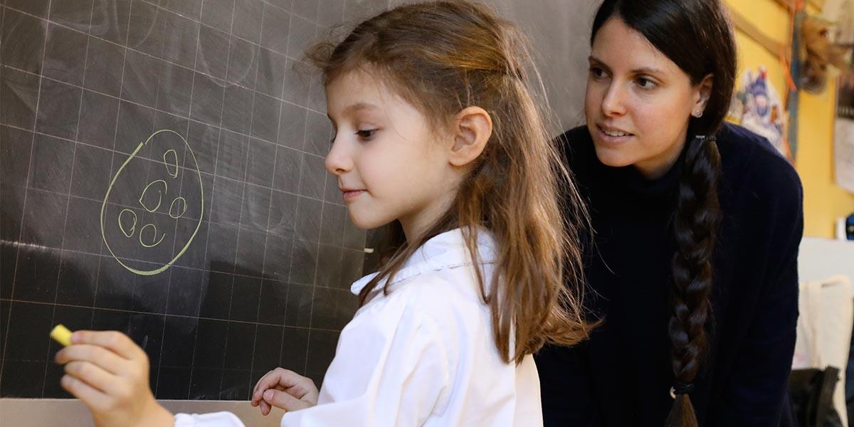 Scuola primaria Frassati - Esercizio alla lavagna