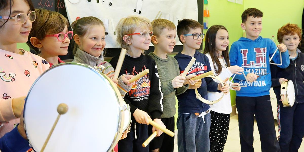 Scuola primaria Frassati - Lezione di musica