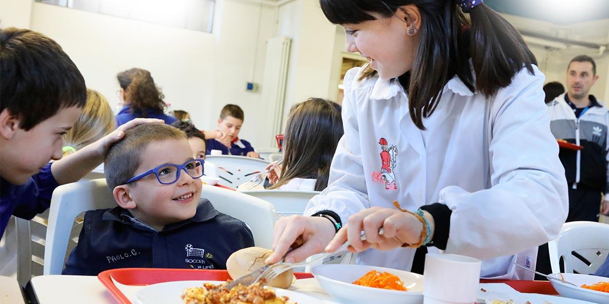 Scuola primaria Frassati - QUI-PRI durante il pranzo