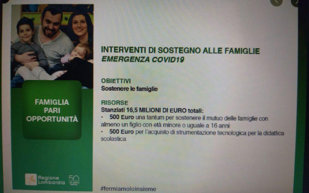 Famiglie in emergenza, la Regione stanzia misure di sostegno